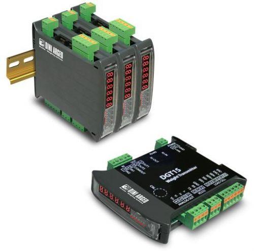 Vážní indikátor DINI ARGEO DGT1S, RS232/485, montáž na DIN