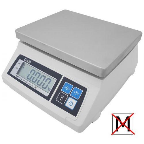 Kontrolní stolní váha CAS SW 1S-2DRT 2kg bez ověření