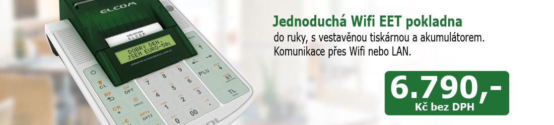 Registrační pokladna EURO-50TEi Wi-Fi pro EET